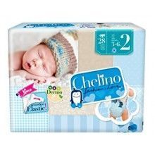 PAÑAL CHELINO FASHION & LOVE T2 (3-6KG) 28 UDS