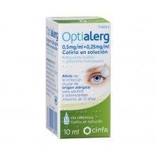 OPTIALERG 0.5MG/ML + 0.25MG/ML COLIRIO EN SOLUCIÓN 10ML
